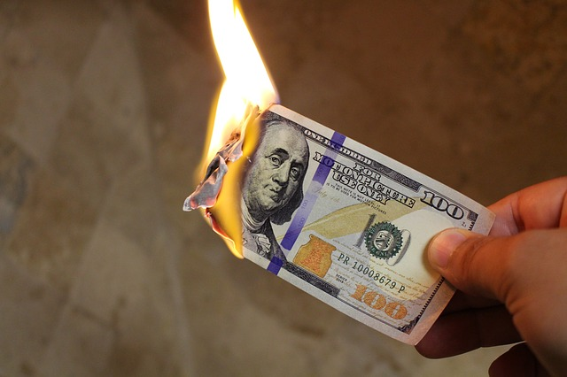 Burning Money - Ben Franklin