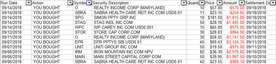REIT Stock Purchases