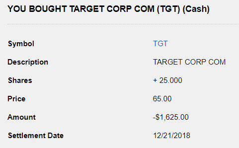 Target Stock Purchase